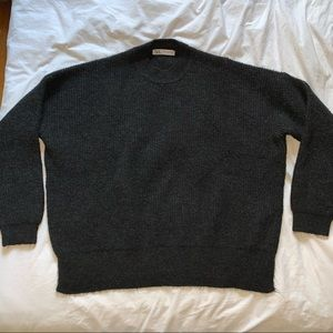 black Zara women's sweater